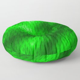 Line texture of green oblique dashes with a bright intersection on a luminous charcoal. Floor Pillow