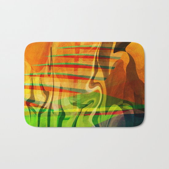 Multicolored abstract 2016 / 013 Bath Mat