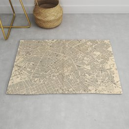 Vintage Map of Manchester England (1851) Rug