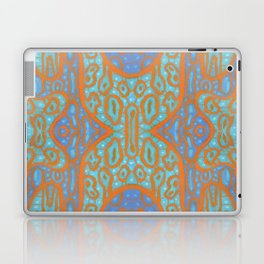 Orange and blue abstract pattern in eastern style Laptop & iPad Skin