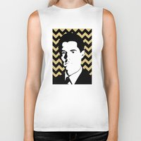 dale cooper Biker Tanks featuring Special Agent Dale Cooper by TwO Owls