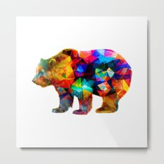 Bear Triangles Metal Print