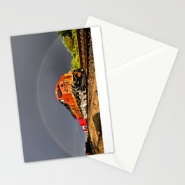 BNSF Train with Rainbow at Henrietta Missouri Stationery Cards