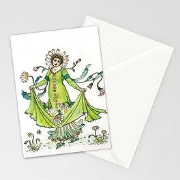 Vintage Daisy Lady Goddess Stationery Cards