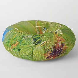 Large Palm in Naples Florida Floor Pillow