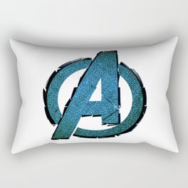 UNREAL PARTY 2012 AVENGERS LOGO FLYERS Rectangular Pillow
