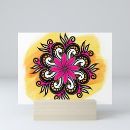 Summer Floral watercolour Pattern  Mini Art Print