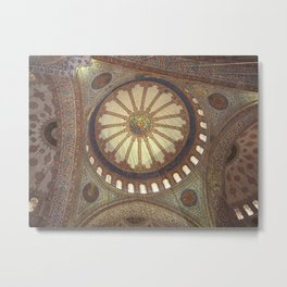 Blue Mosque Interior Istanbul, Turkey Metal Print
