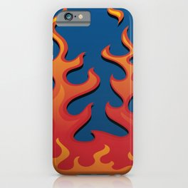 Classic Hot Rod Fire Flames iPhone Case