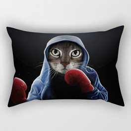 Boxing Cool Cat Rectangular Pillow