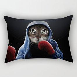 Boxing Cool Cat Rectangular Pillow