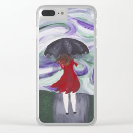 Blistery Winds Clear iPhone Case