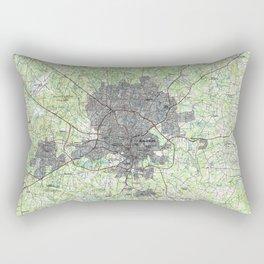 Raleigh North Carolina Map (1990) Rectangular Pillow