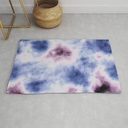blue purple tie dye Rug
