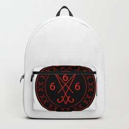 666- the number of the beast with the sigil of Lucifer symbol Backpack