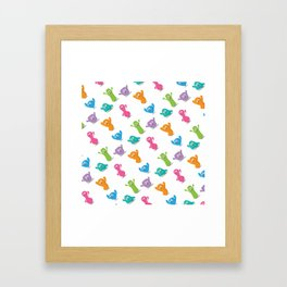 Happy colours cheering -pattern Framed Art Print