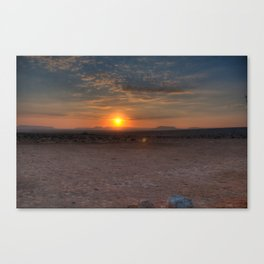 Sunrise Over The Negev Canvas Print