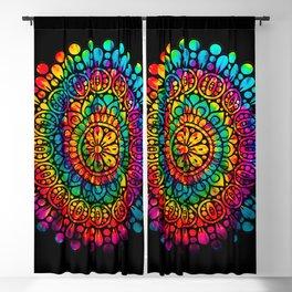 Tie Dye Mandala Blackout Curtain