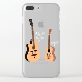 """""""Uke I m Your Father Noooo!"""" T-shirt Design When """"No Music No Life"""" Tee Ukulele For Musicians Clear iPhone Case"""