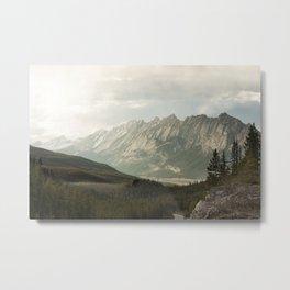 Rocky Mountains Photography Print Metal Print