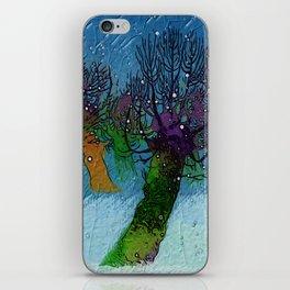 Nightfall snowing iPhone Skin