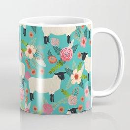 Suffolk Sheep farm floral cute animals sheep lover nature florals pattern homestead gifts Coffee Mug