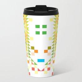 geometric  background Metal Travel Mug