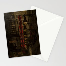 Old Goodman Theatre Sign from Alley Chicago Illinois Stationery Cards