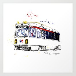 Septa Trolley Art: Philly Public Transportation Art Print