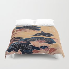 japanese flowers Duvet Cover