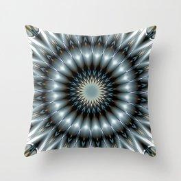Metallic Mandala Throw Pillow