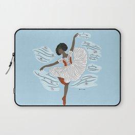 Winter Ballerina- Dance of the Seasons- Ballet Illustration Laptop Sleeve