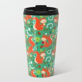 Nutty Squirrel Pattern Travel Mug