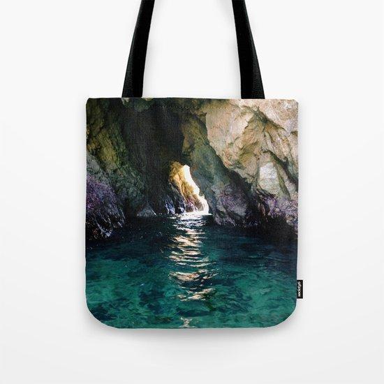 Colorful Ocean Cave Tote Bag