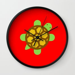 Turtle in Paradise. Wall Clock
