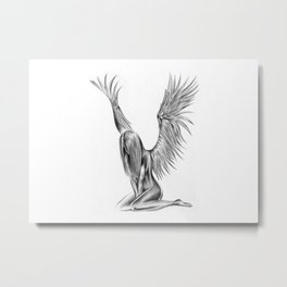 Lonely Angel Metal Print