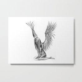 Lonely Angel Metal Print