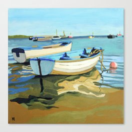 The Blue Boats Canvas Print