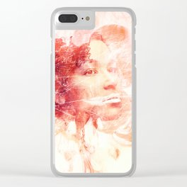 orange beauty Clear iPhone Case