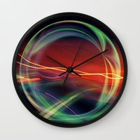 stargate Wall Clocks featuring The Gate Abstract by minx267