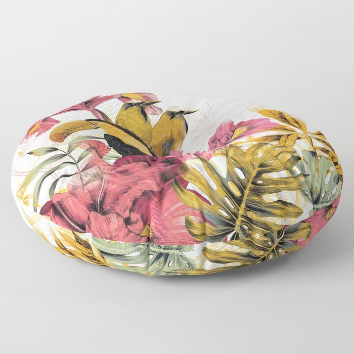 Tropical Garden Tucan Floor Pillow