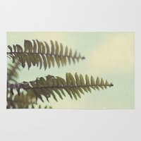 fern Area & Throw Rugs featuring fern by Beverly LeFevre