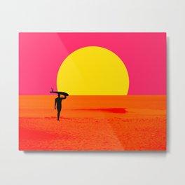 Malibu Surfer Metal Print