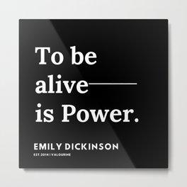 64    | Emily Dickinson Quotes | 191130 Black Metal Print
