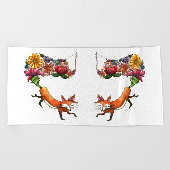 Hunt Flowers Not Foxes One Beach Towel