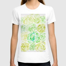 6     190411 Flower Abstract Watercolour Painting T-shirt