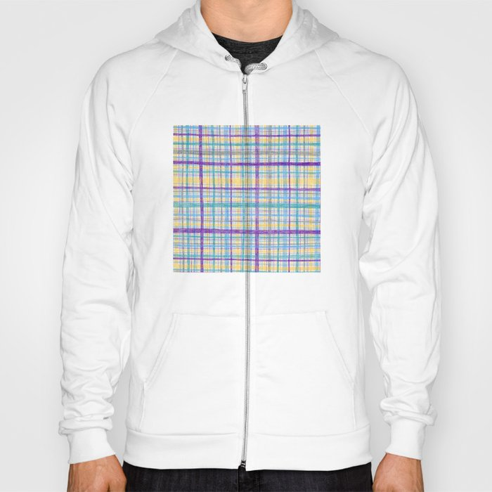 Plaid Pattern Hoody