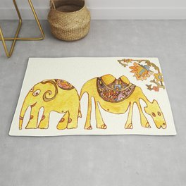 Elefant and Camel Rug