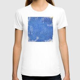 Vintage Japanese Antique Paper Pattern in Blue T-shirt
