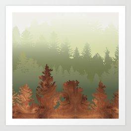 Treescape Green Art Print